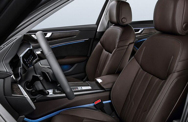 2019 Audi A6 brown leather seats