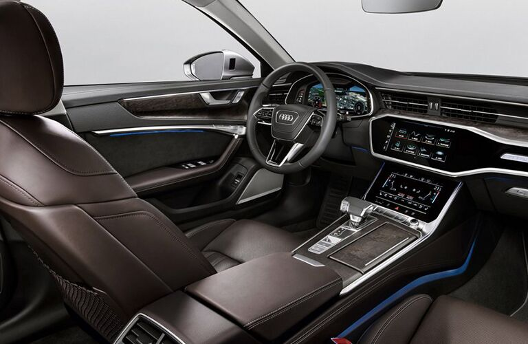 2019 Audi A6 dash and steering wheel