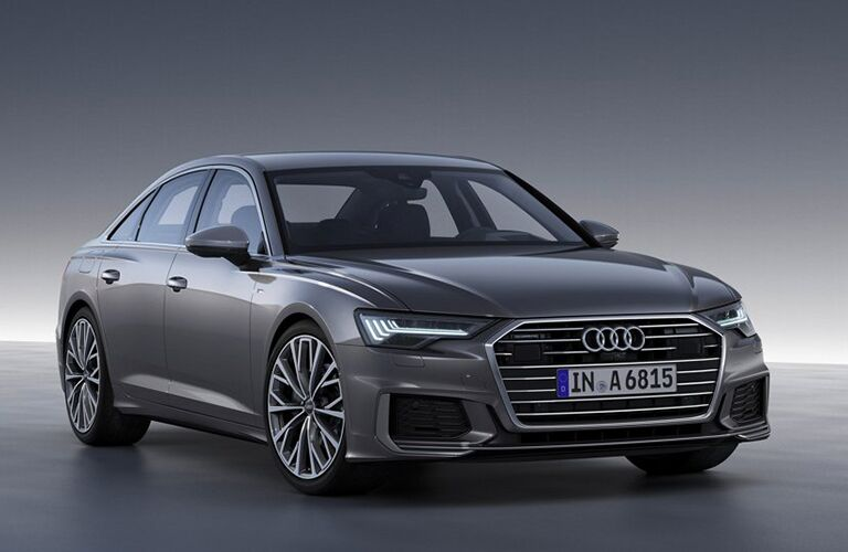 2019 Audi A6 silver front view