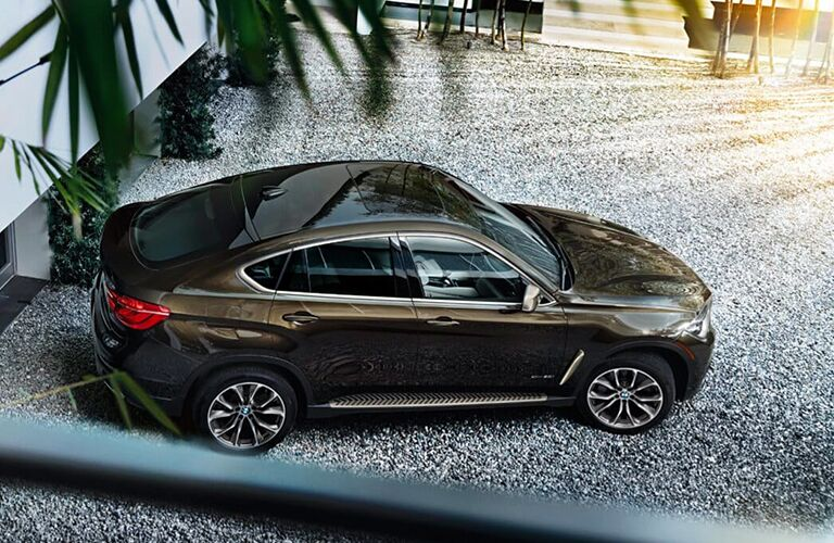 2019 BMW X6 brown back side view