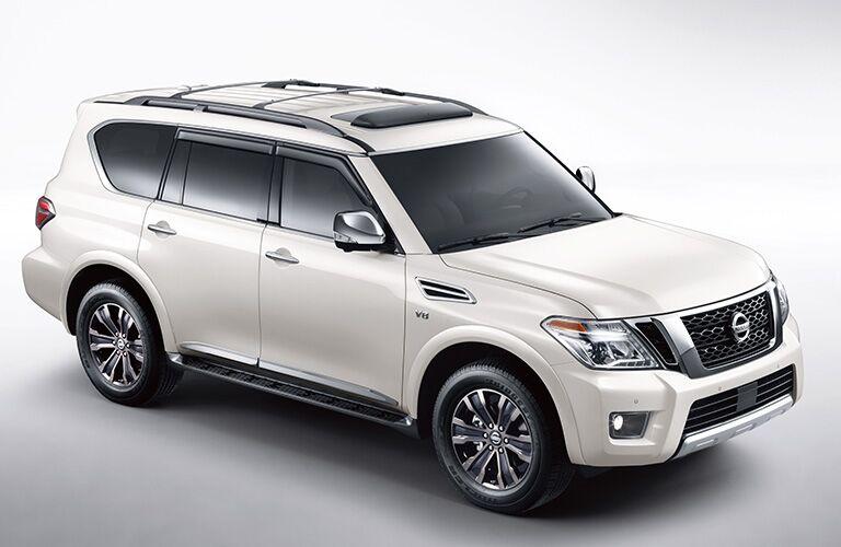 2019 Nissan Armada white front view