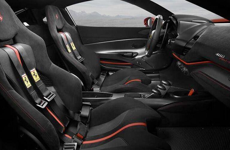 black sport seating in used ferrari vehicle