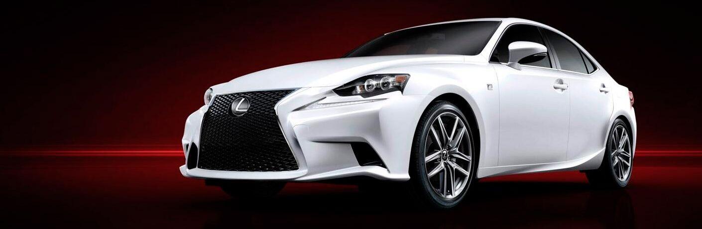 Used Lexus sedan white side view