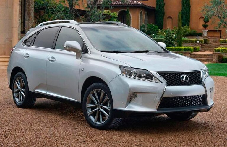 Used Lexus SUV silver side view