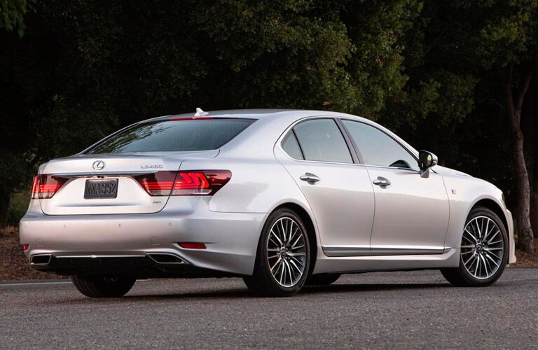 Used Lexus LS silver back view
