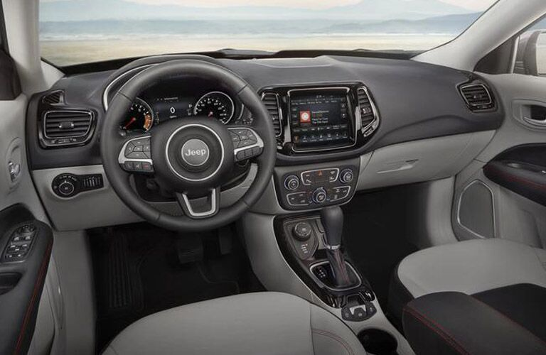 Driver's cockpit of the 2018 Jeep Compass