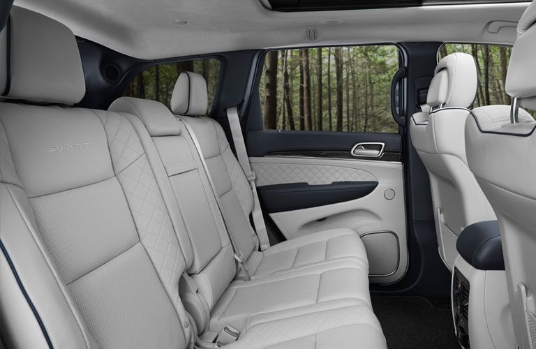 Second row of seating inside 2018 Jeep Grand Cherokee