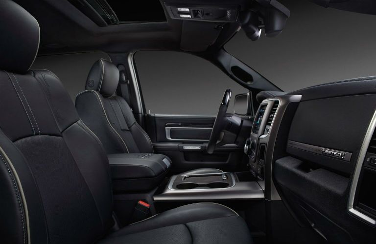 Side view of the front seats of the 2018 Ram 2500