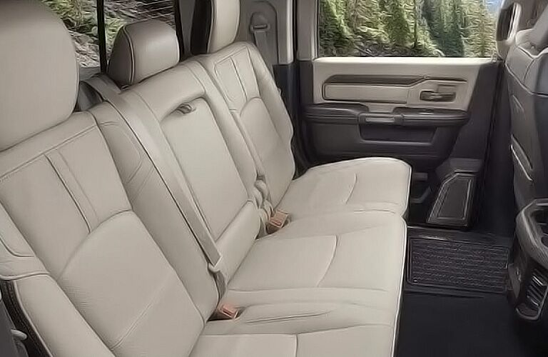2019 Ram 2500 Mega Cab Rear Interior