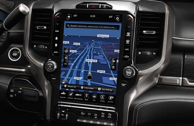 2019 Ram 3500 12-Inch Uconnect Touchscreen Display