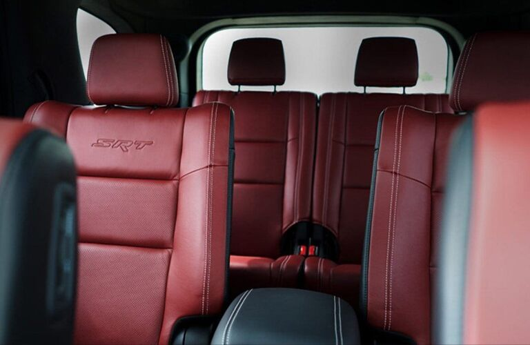 Maroon seats in 2020 Dodge Durango
