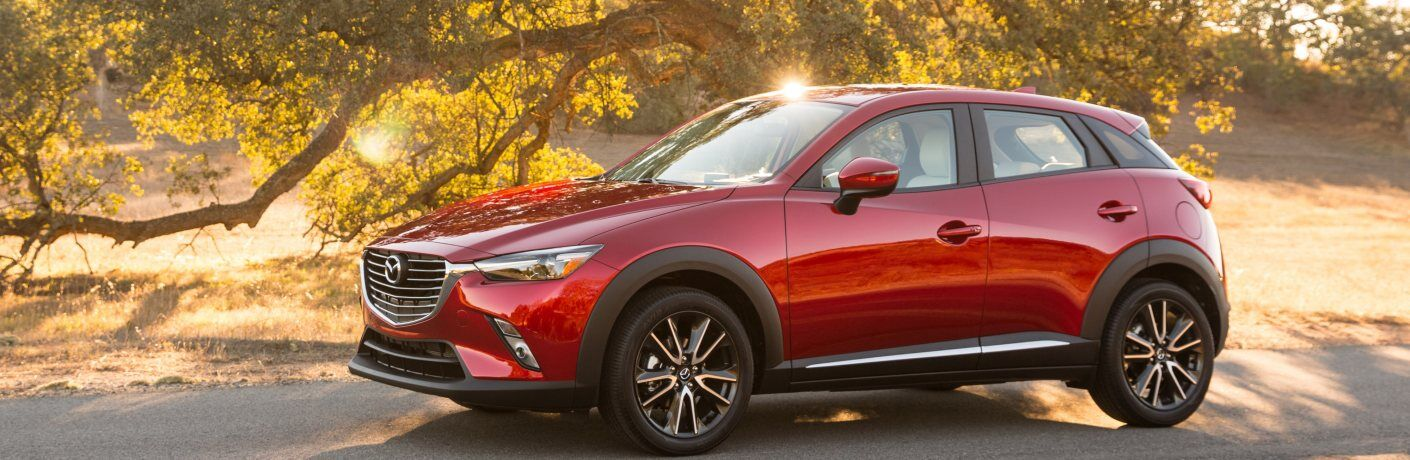 2018 Mazda CX-3 red side view