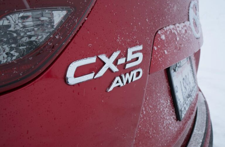 2018 Mazda CX-5 red AWD badge