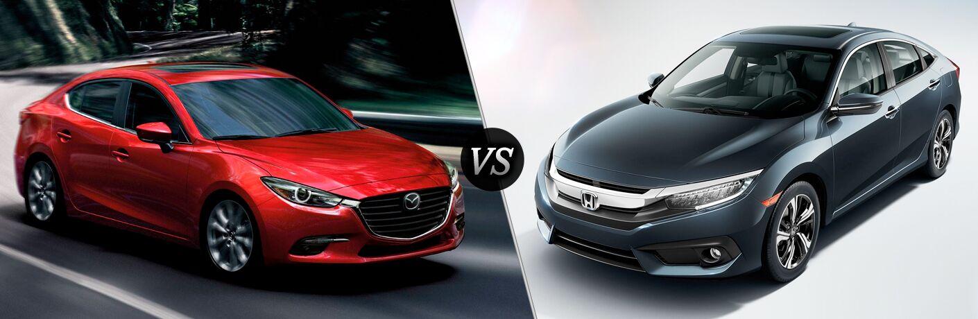 2018 Mazda3 vs 2018 Honda Civic