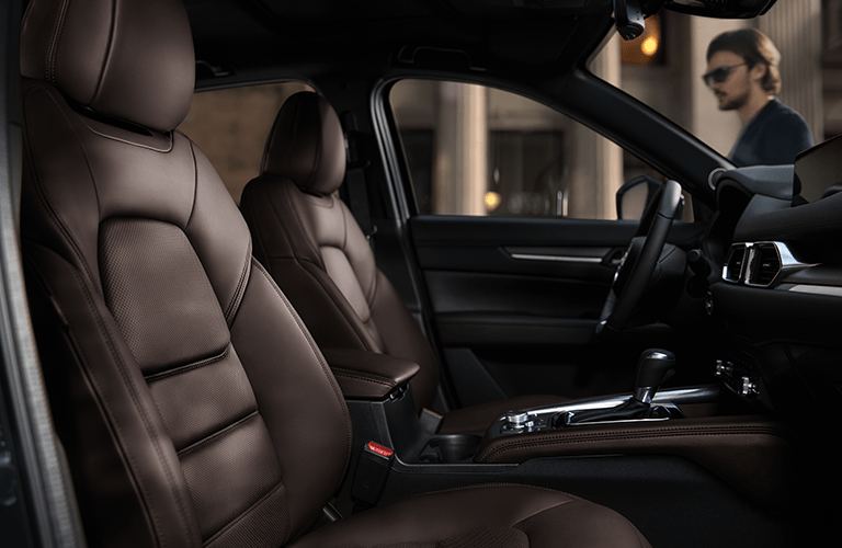 2019 Mazda CX-5 brown leather seats