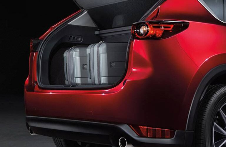2019 Mazda CX-5 red back view with cargo