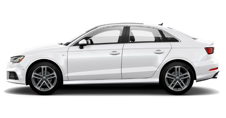 2019 Audi A3 Prestige white side view