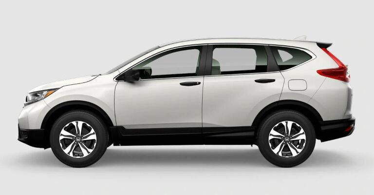 2019 Honda CR-V LX white side view