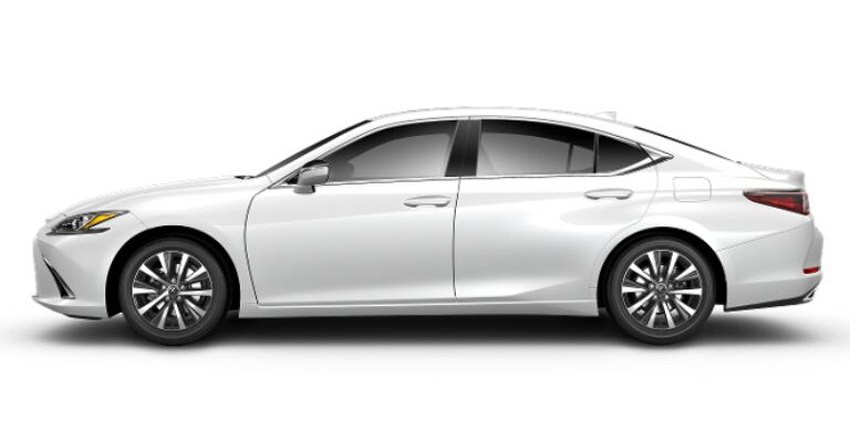 2019 Lexus ES 350 white side view