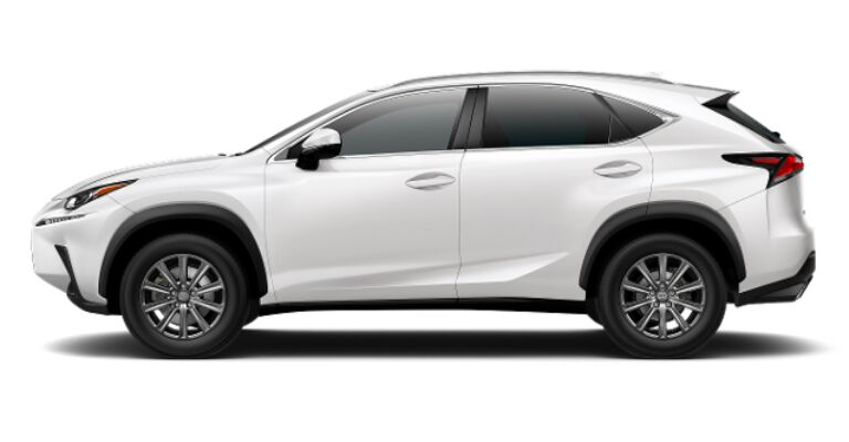 2019 Lexus NX 300 white side view