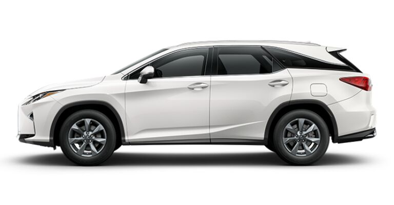 2019 Lexus RX 350L white side view