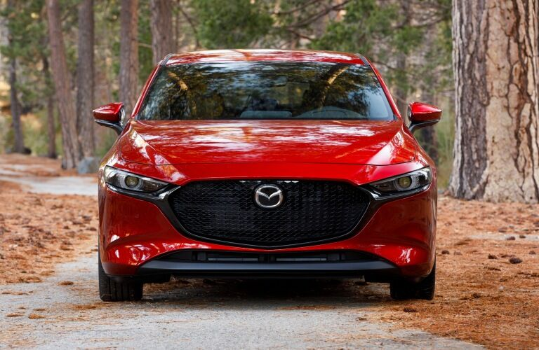 2019 Mazda3 red front view