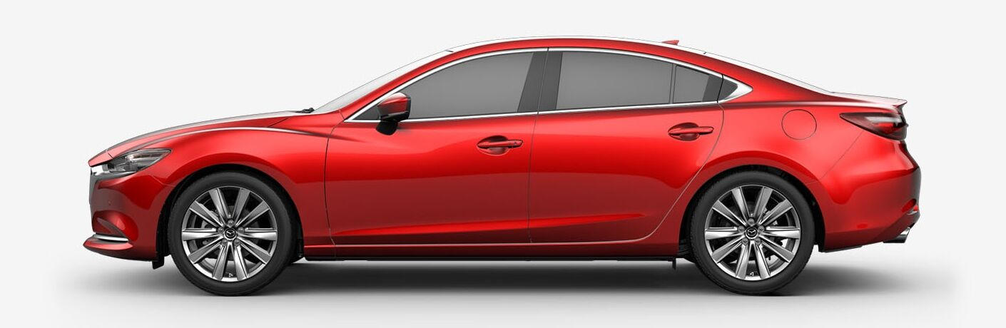2019 Mazda6 red side view