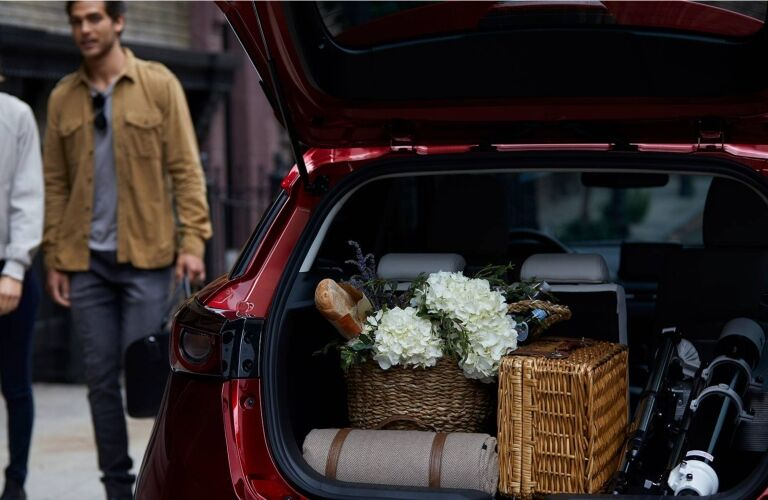 2019 Mazda CX-3 with cargo loaded in back