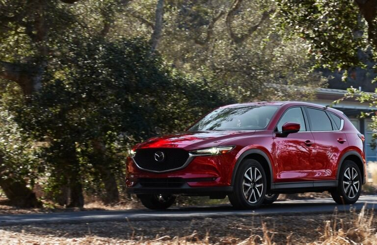 2019 Mazda CX-5 red side view on a country road