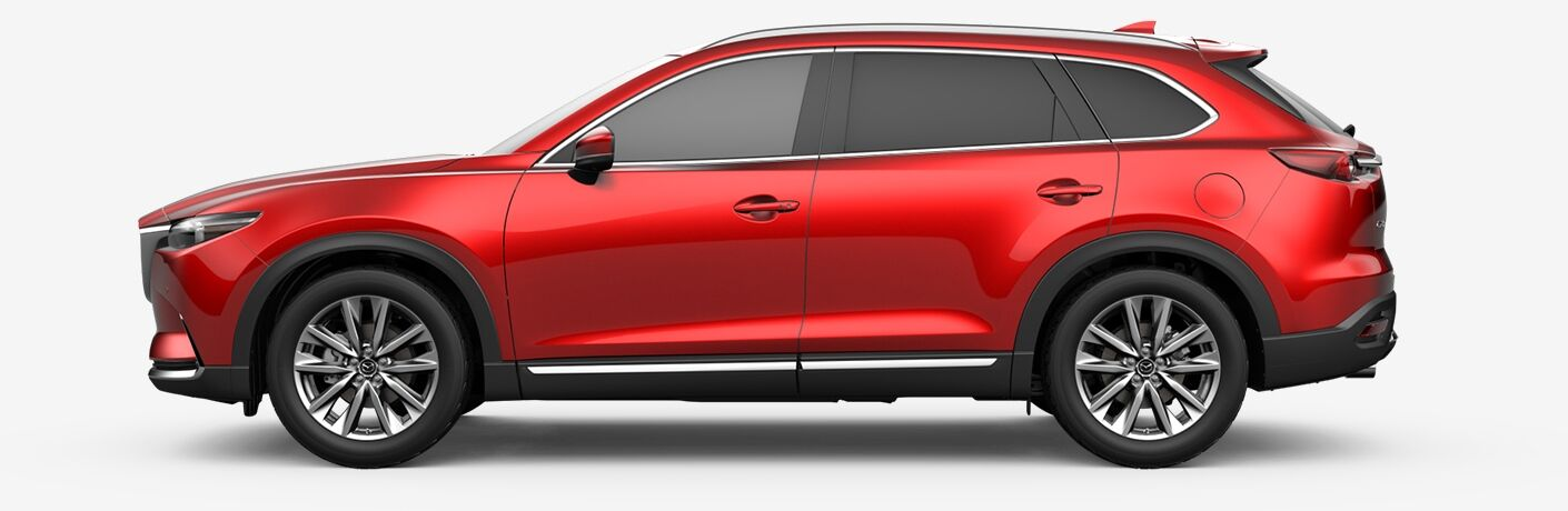2019 Mazda CX-9 red side view