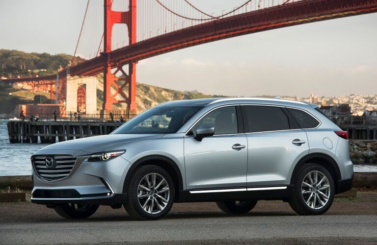 2019 Mazda CX-9 silver side view