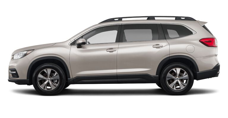 2019 Subaru Ascent Premium white side view
