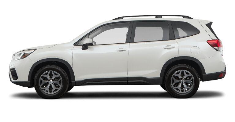 2019 Subaru Forrester Premium white side view