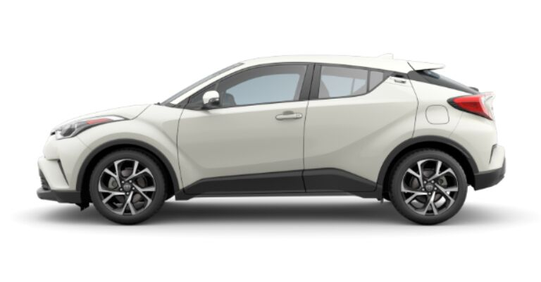 2019 Toyota C-HR XLE white side view