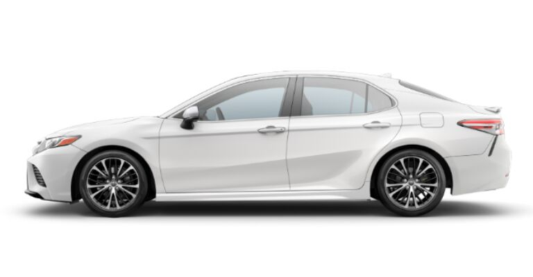 2019 Toyota Camry SE white side view
