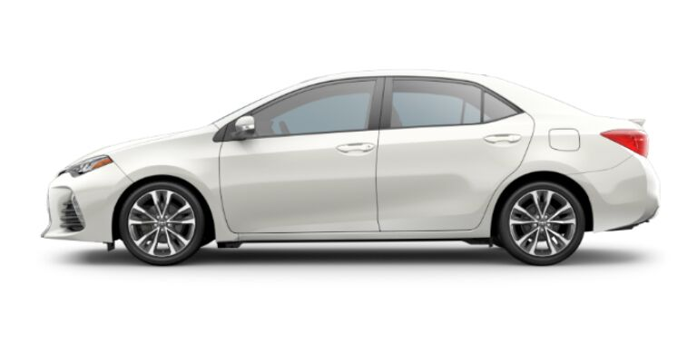2019 Toyota Corolla LE white side view