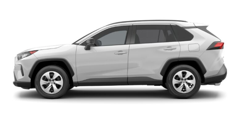 2019 Toyota RAV4 LE white side view