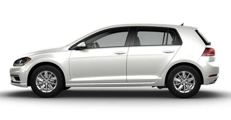 2019 Volkswagen Golf S white side view