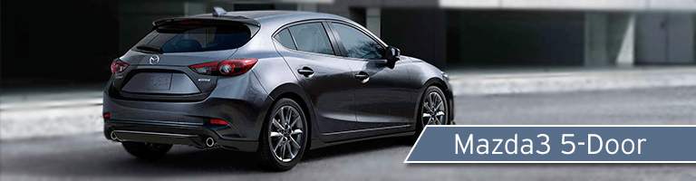 2018 Mazda3 5-door back view gray