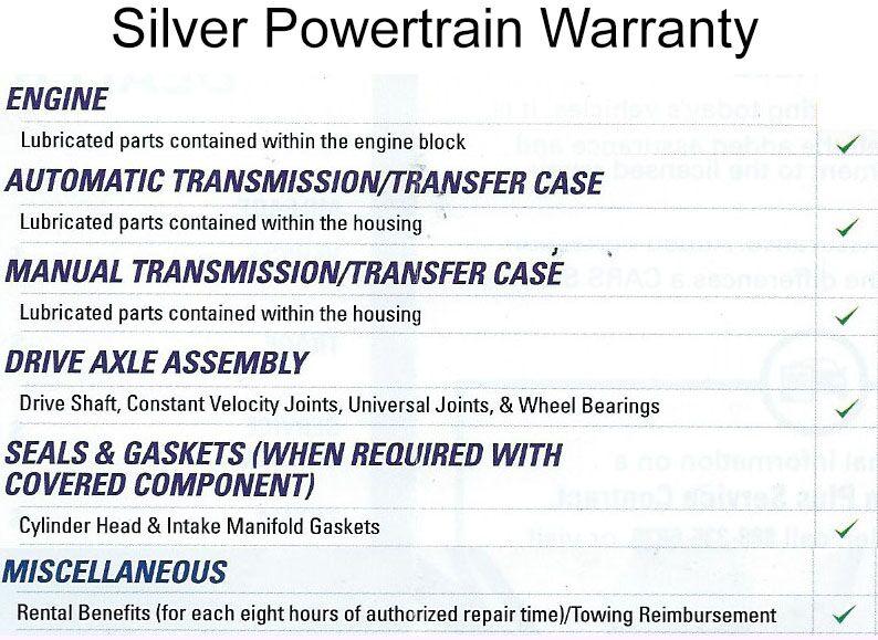 Powertrain Warranty Coverage >> Used Car Warranty In Frankfort Ky