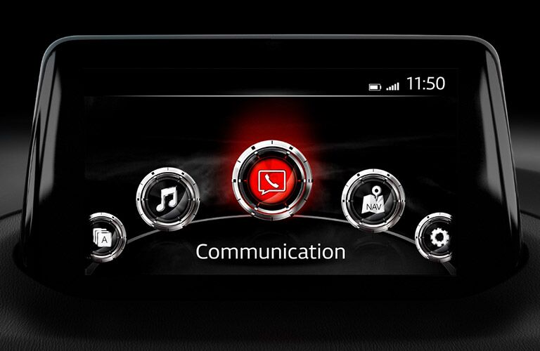 mazda connect infotainment system screen of 2018 mazda3