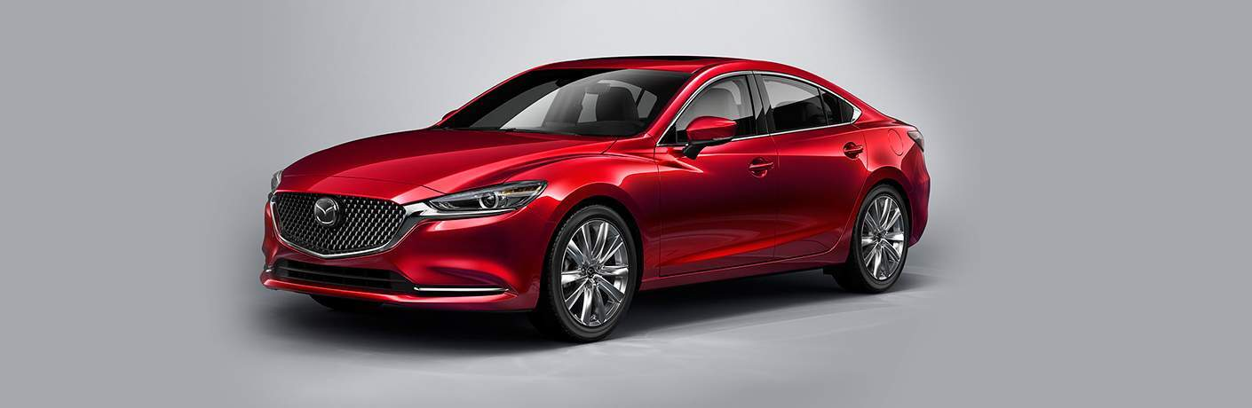 2018 mazda6 in red on gray background