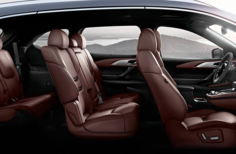 side view of interior seating of 2019 mazda cx-9
