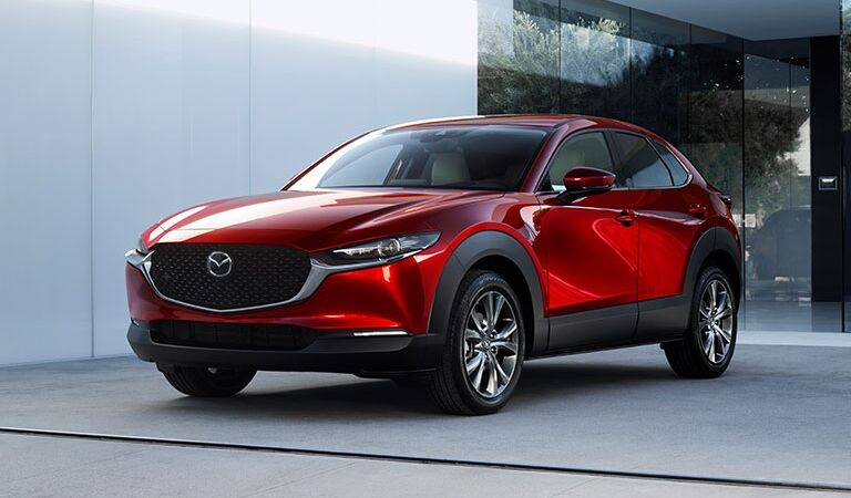 2020 CX-30 parked in front of stylish house