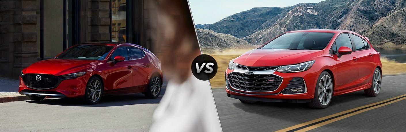 2019 Mazda3 Hatchback vs 2019 Chevy Cruze Hatchback LS