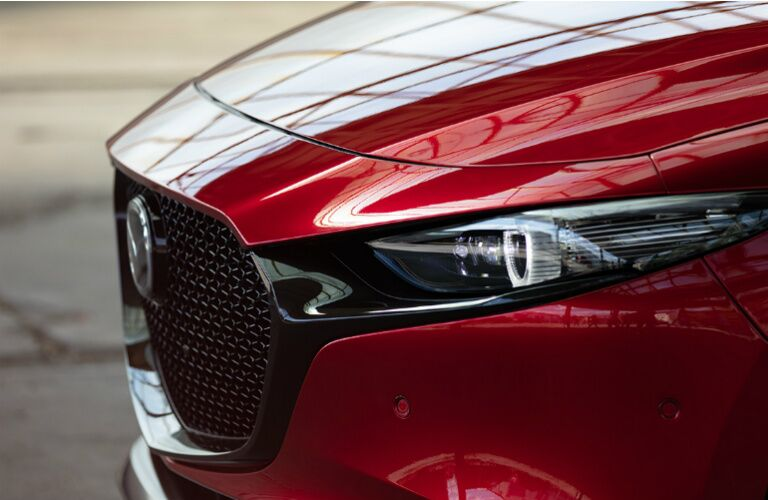 2019 Mazda3 Hatchback headlight close-up