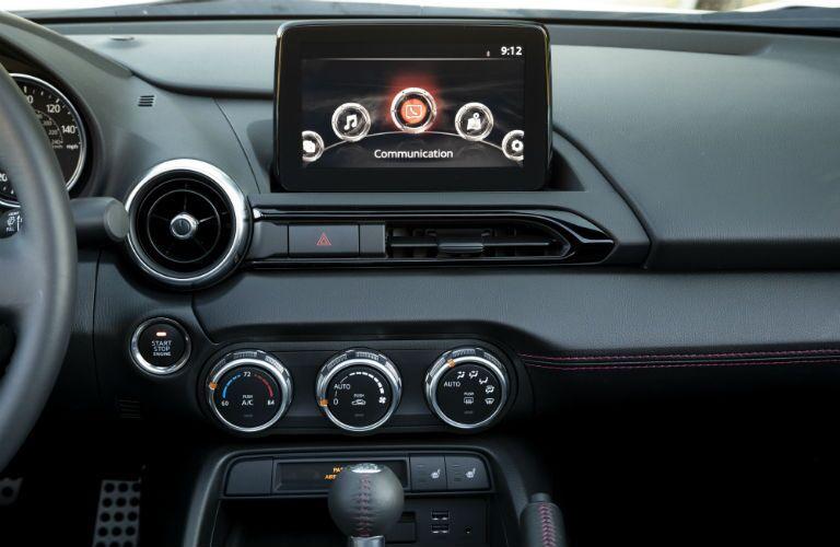 2019 Mazda MX-5 Miata infotainment screen