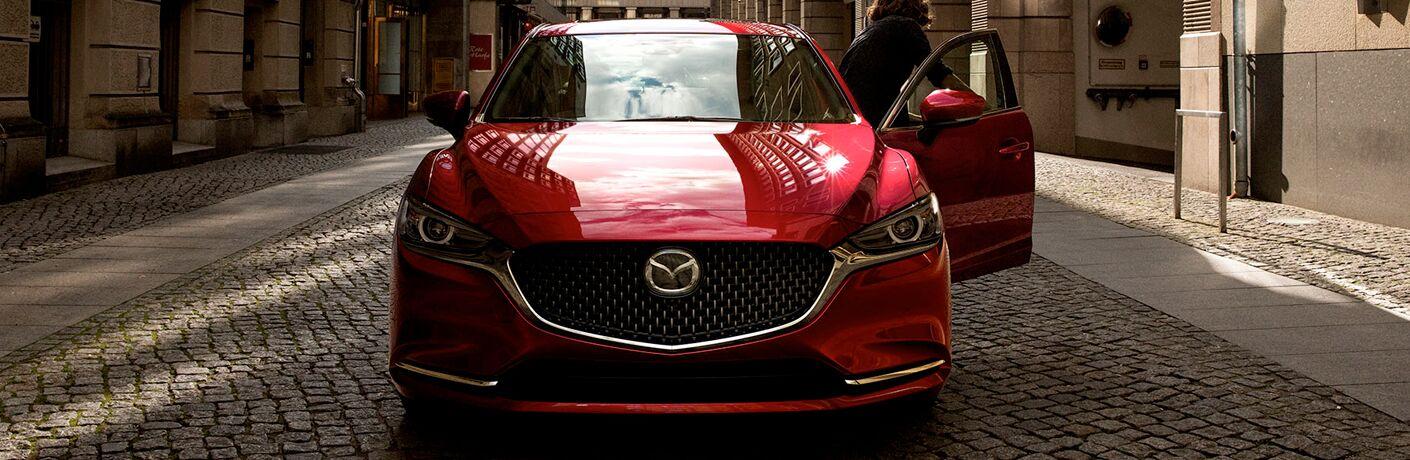 2020 Mazda6 parked on a cobblestone street