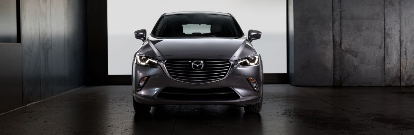 2020 CX-3 parked in vaguely industrial setting