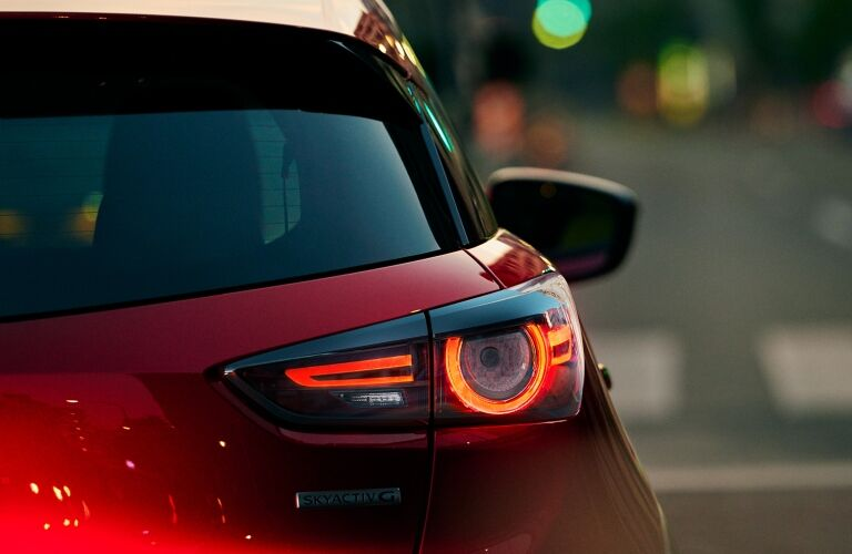 2021 CX-3 partial rear close-up on LED taillight
